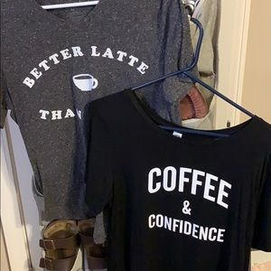 Two coffee shirts